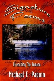 Cover of: Signature Poems