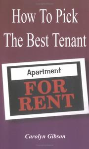 Cover of: How To Pick The Best Tenant