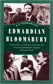 Cover of: Edwardian Bloomsbury