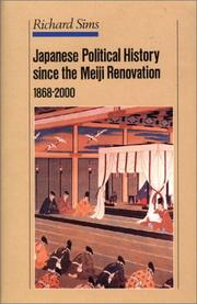 Cover of: Japanese Political History Since the Meiji Renovation 1868-2000