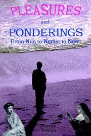 Cover of: Pleasures and Ponderings | Moreah Vestan