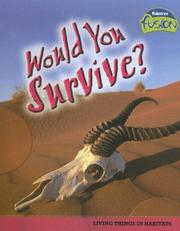 Cover of: Would you survive?: living things in habitats
