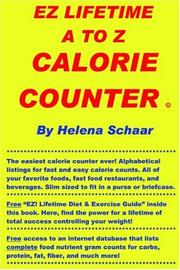Cover of: EZ Lifetime A to Z Calorie Counter