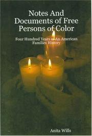 Cover of: Notes And Documents of Free Persons of Color