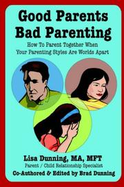 Cover of: Good Parents Bad Parenting