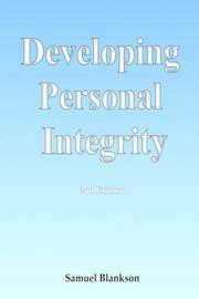 Cover of: Developing Personal Integrity | Samuel Blankson
