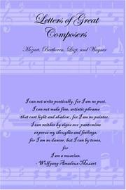 Cover of: Letters of Great Composers