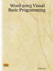 Cover of: Word 2003 Visual Basic Programming | John Low