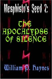 Cover of: The Apocalypse of Silence