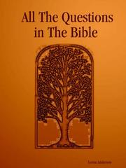 Cover of: All The Questions in The Bible