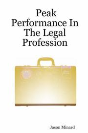 Cover of: Peak Performance In The Legal Profession