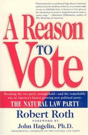 Cover of: A reason to vote