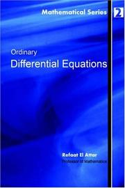 Cover of: Ordinary Differential Equations