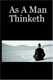 Cover of: As A Man Thinketh