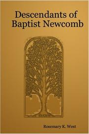 Cover of: Descendants of Baptist Newcomb