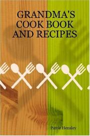 Cover of: GRANDMA'S COOK BOOK AND RECIPES