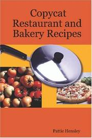Cover of: Copycat Restaurant and Bakery Recipes