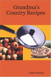 Cover of: Grandma's Country Recipes