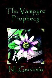 Cover of: The Vampyre Prophecy
