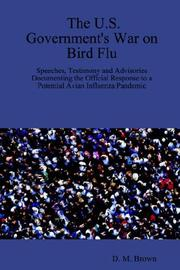 Cover of: The U.S. Government's War on Bird Flu