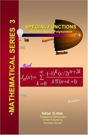 Cover of: Special Functions and Orthogonal Polynomials
