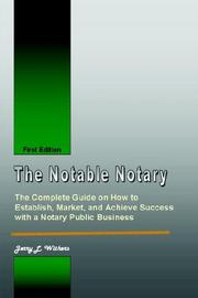 Cover of: The Notable Notary