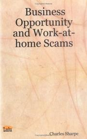 Cover of: Business Opportunity and Work-at-home Scams