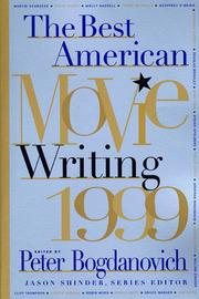Cover of: The Best American Movie Writing 1999 (Best American Movie Writing) |
