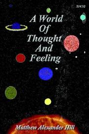 Cover of: A World Of Thought And Feeling