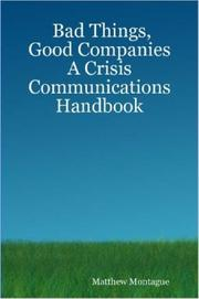 Cover of: Bad Things, Good Companies