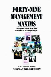 Cover of: Forty-nine Management Maxims