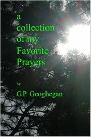 Cover of: A COLLECTION OF MY FAVORITE PRAYERS
