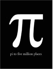 Cover of: Pi to Five Million Places