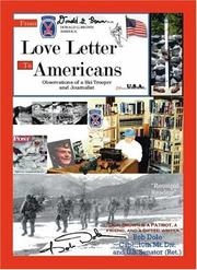 Cover of: Love letter to Americans | Donald G. Brown