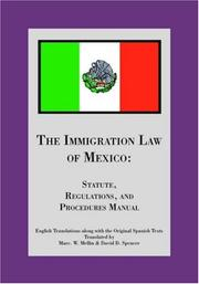 Cover of: The Immigration Law of Mexico