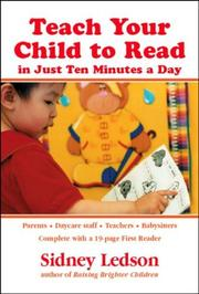 Cover of: Teach Your Child to Read in Just Ten Minutes a Day