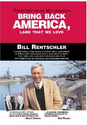 Cover of: Bring Back America, Land That We Love