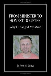 Cover of: From Minister to Honest Doubter | John  W. Loftus