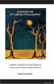 Cover of: Handbook of Greek Philosophy: From Thales to the Stoics