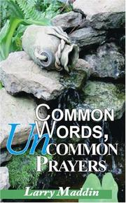 Cover of: Common Words, Uncommon Prayers