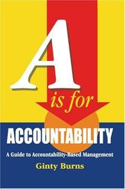 Cover of: A is for Accountability