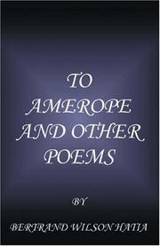 Cover of: To Amerope and Other Poems