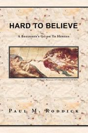 Cover of: Hard to Believe