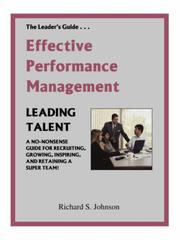 Cover of: Effective Performance Management