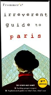 Frommers Irreverent Guide to Paris (Frommers Irreverent Guides Paris)