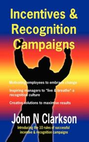 Cover of: Incentives & Recognition Campaigns