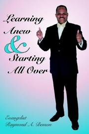Cover of: Learning Anew & Starting All Over