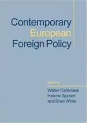 Cover of: Contemporary European foreign policy |