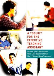 Cover of: A Toolkit for the Effective Teaching Assistant | Richard Tyrer
