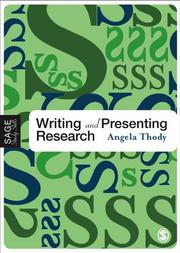 Cover of: Writing and Presenting Research